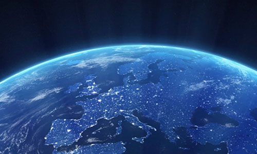 image of europe from space