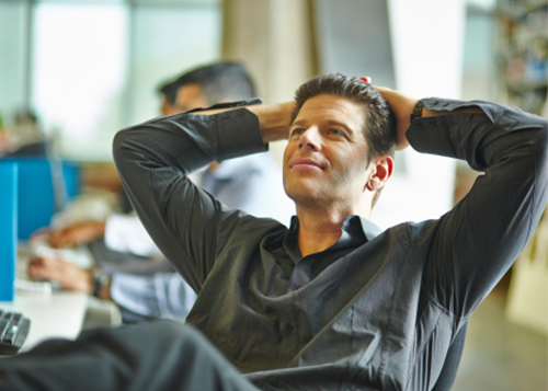 image of man relaxed because his services are managed